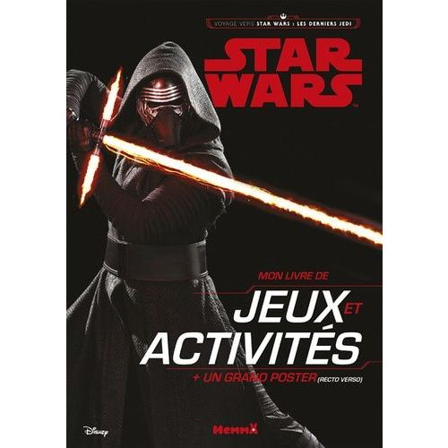 Mon Livre De Jeux Et Activites Star Wars Les Derniers Jedi Avec Un Grand Poster
