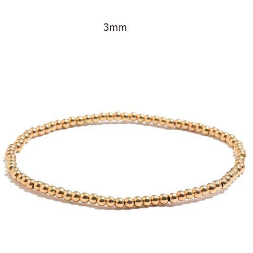 Men/'s Natural Mixte Perles Pierres Précieuses Bracelet Avec Zircon Cubique Boule Plaqué 24KT or blanc