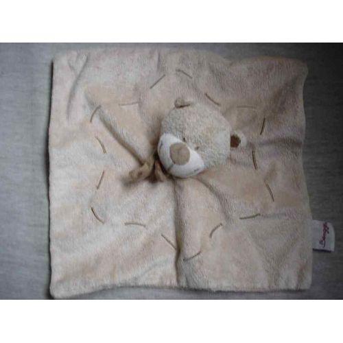 cadeau Doudou plat ours marron rose blanc gris étoiles Pat /& Ripaton La Halle
