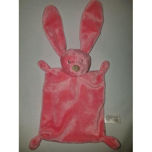 Doudou Plat Lapin Kiabi Simba Toys Benelux Rose Naissance Peluche Eveil Enfant Comfort Blanket Comforter Soft Toys