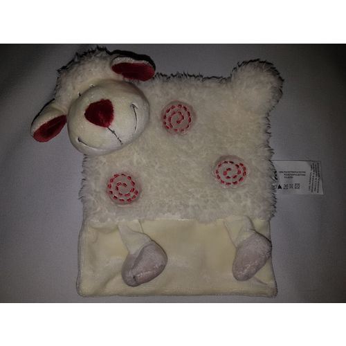 Doudou Plat Mouton Kiabi Beige Creme Ecru Rouge Bordeaux Spirale Jouet Bebe Naissance Peluche Eveil Enfant Blankie Blanket Comforter Soft Toys Plush