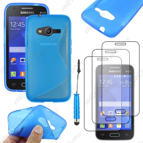 Ebeststar housse etui coque silicone gel motif s line - Protection galaxy trend lite ...