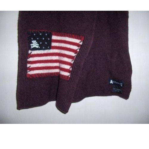 renommée mondiale conception adroite vente en ligne Echarpe Lulu Castagnette couleur prune bordeaux - drapeau usa