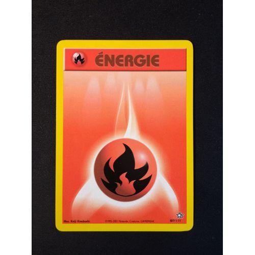 CARTE POKEMON NEUVE 107//111 ENERGIE FEU NEO GENESIS