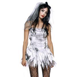 Eozy Deguisement Zombie Mariee Femme Costume Pour Halloween Cosplay Taille Xl Rakuten