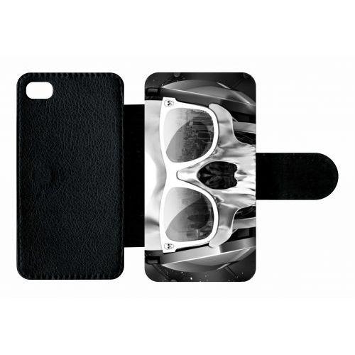 Etui A Rabat Tete De Mort Swag Casque De Musique Compatible Avec Apple Iphone 4s Plastique Bord Noir