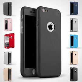 etui coque verre trempe protection integrale 360 degre pour iphone 5 5s se noir 1116586849 ML