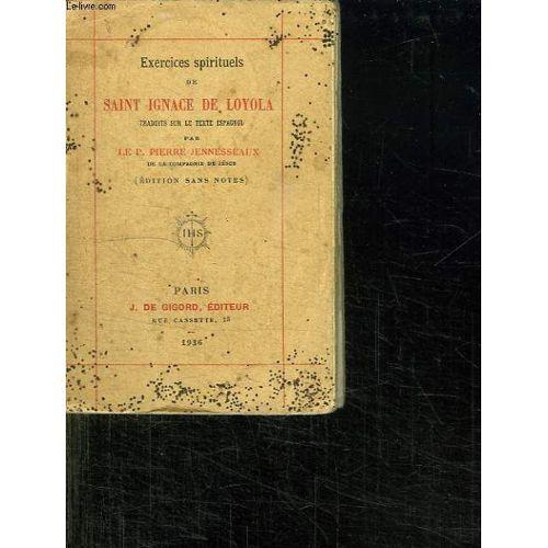 Exercices Spirituels De Saint Ignace De Loyola Rakuten