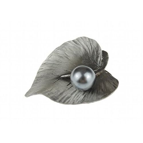 Mousseux Rond Blanc /& Gris Perle Collier Femmes Bijoux 14K Blanc Plaqué Or