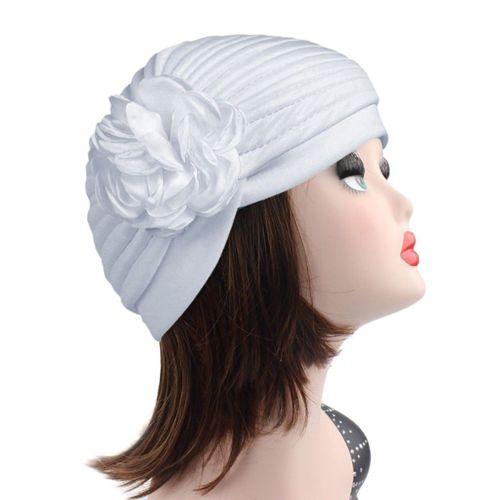 Tenue de soirée Idéal pour perte de cheveux trop Noir Turban chapeau OR avec Rose design