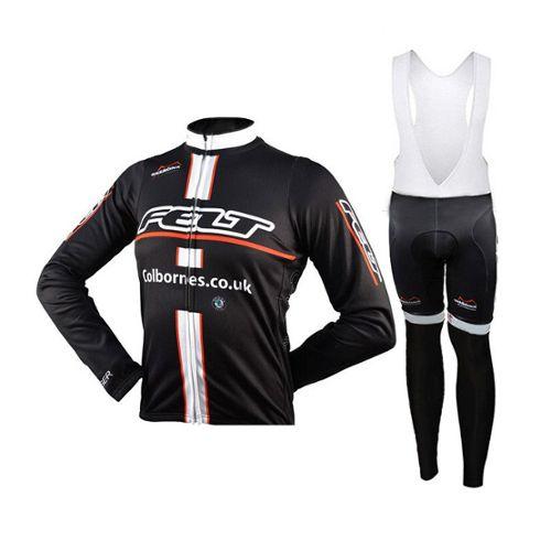 Mens Cycling BIB Collants Rembourré Thermal Longues Jambières MTB Hiver Vélo Pantalon