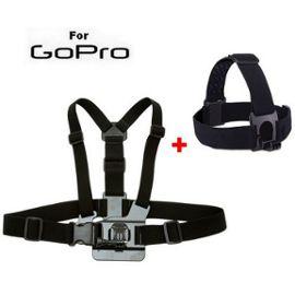 mode de luxe sélectionner pour officiel bonne vente Fixation Harnais + Bandeau Tête pour caméra Gopro Hero (PACK)