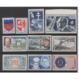 France 1966/1967: Lot De 10 Timbres Neufs N° 1468,1510,1523,1524,1526,1527,1529,1532,1533,1534