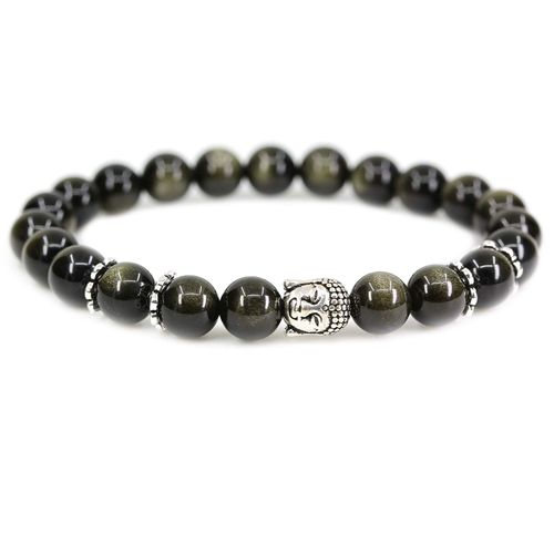 Homme Bracelet All match Color Block Élastique Perles Bracelet