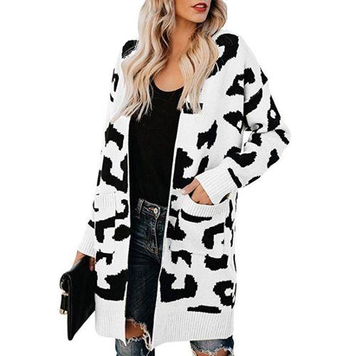 Mesdames gris animal fourrure synthétique veste courte avec poches latérales et doublure