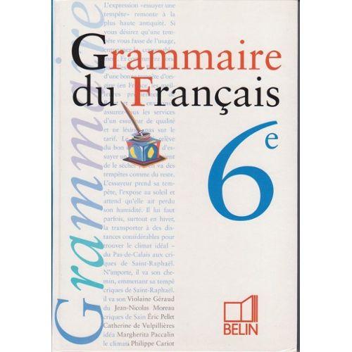 Grammaire Du Francais Classe De 6e