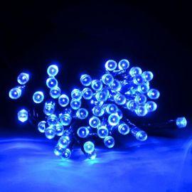Guirlande Lumineuse Led Solaire Jardin Exterieur Decoration 30 Metres Bleu