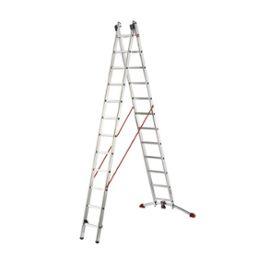Hailo Echelle Transformable En Alu 2x12 Haut Travail 7m Charge Max 150kg Profistep Combi