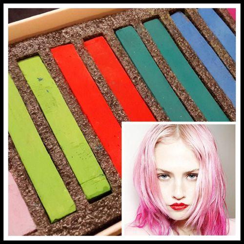Hair Chalk 12 Craies Pour Cheveux Tout Type Tout Public Coloration Teinture Temporaire Diy Coiffure Deguisements Cosplay Black Sugar Boutique Paris