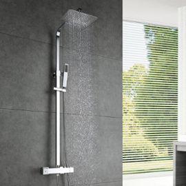 Homelody robinetterie salle de bains colonne de douche thermostatique en laiton durable pommeau - Robinetterie laiton salle de bain ...