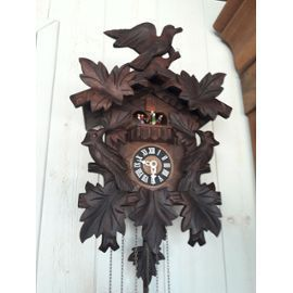 Horloge Bois De La Foret Noire Mecanique 3 Poids 5 Feuilles Et 3 Oiseaux Kukuks Rakuten