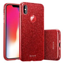 iphone x xs coque silicone glitter protect paillette rouge 1227515103 ML
