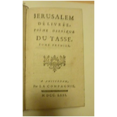 Jerusalem Delivree Poeme Heroique Du Tasse Tome 1 Et 2