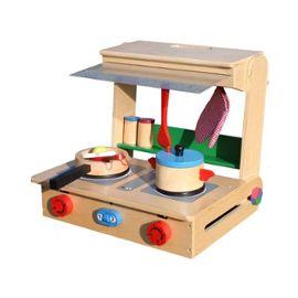 Jeu D Imitation Cuisine En Bois Avec Accessoires Pour Enfant Polly