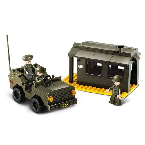 JEU DE CONSTRUCTION BRIQUE EMBOITABLE SLUBAN ARMY POSTE DE GARDE MILITAIRE M38 B