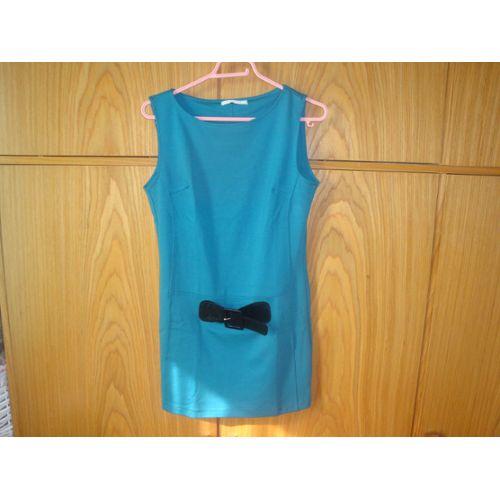 Jolie Tunique Sans Manches Tres Habillee Couleur Vert Bleu Canard Taille 38 40
