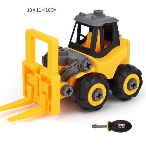 MagiDeal 589Pcs Alloy DIY Assembled Forklift Model Building Kit STEM Learn