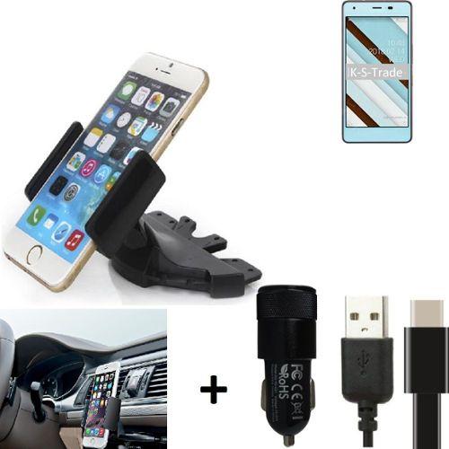 Shot Case Universel Support Voiture Magnetique + Cable Double Jack Musique Pack Voiture pour Samsung Galaxy J3 2016 Smartphone
