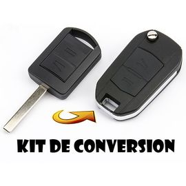 2x Coque 2 Boutons pour Cle Clef Vauxhall Opel Vectra AGILA MERIVA CORSA Combo