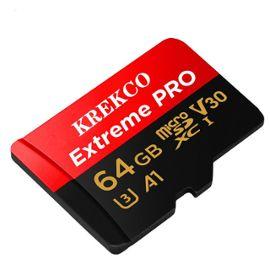 Krekco Carte Memoire Flash Micro Sd 64 Go Microsdxc Avec Adaptateur Sd Microsdxc Rakuten