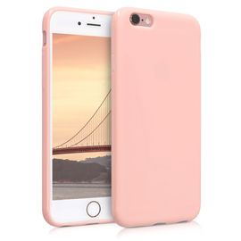 kwmobile coque apple iphone 6 6s coque pour apple iphone 6 6s housse de telephone en silicone or rose mat 1269204326 ML
