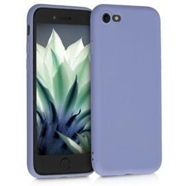 kwmobile coque apple iphone 7 8 coque pour apple iphone 7 8 housse de telephone en silicone lavande mat 1270441155 ML