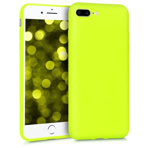 coque iphone 8 plus jaune fluo