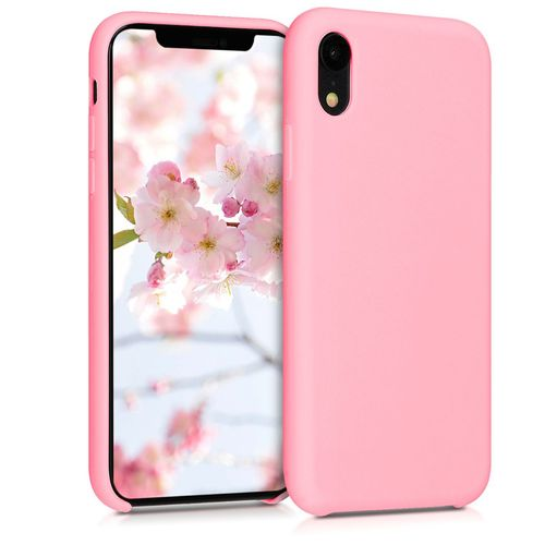 iphone xr coque rose pale