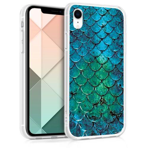 coque iphone xr bleu vert