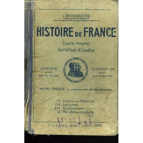 Histoire De France Cours Moyen Certificat D Etudes