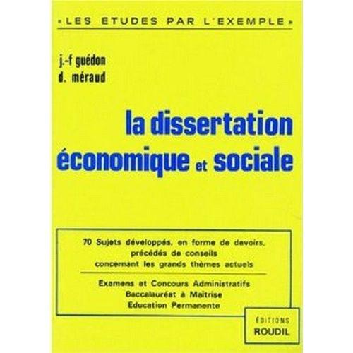 Dissertation economique gratuit