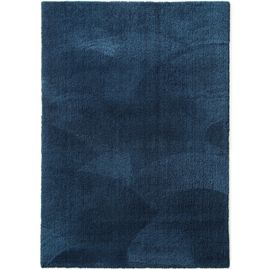 Tapis shaggy à poils longs lavable Lahty Bleu foncé 140x200 cm - Tapis doux  pour salon