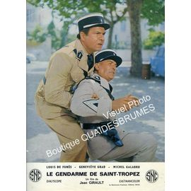 Le Gendarme De Saint Tropez Jeu De Photos Dexploitation Cinématographique Format 245x30 Cm De Jean Girault Avec Louis De Funès Geneviève Grad