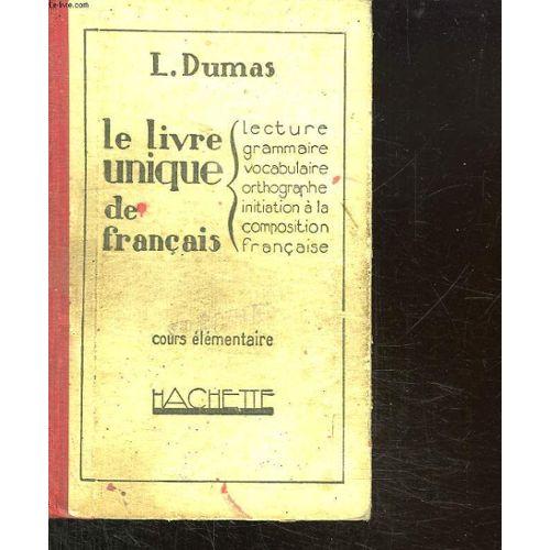 Le Livre Unique De Francais Cours Elementaire