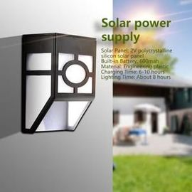 LED Lampe Allée énergie solaire Lampe Solaire Exterieur Jardin Clôture  Terrasse (Blanc) -DBT