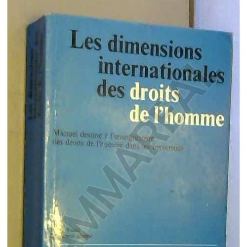 Les Dimensions Internationales Des Droits De L Homme
