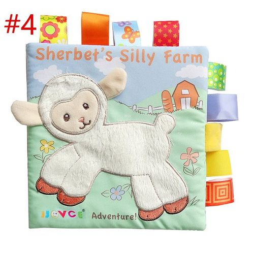 Livre Eveil Bebe D Activites En Tissu Animal Mouton Anglais Jouet Educatif Cadeau Pour Nouveau Ne Enfant