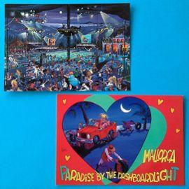 Lot 2 Cartes Carte Postale Espagne Humour Sexe Plage Nuit Mer Fiesta Dessin Mallorca