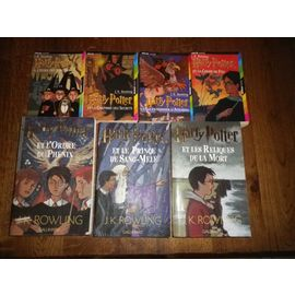 Lot 7 Livres Harry Potter Edition Folio Petit Format Tome