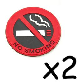Lot De 2 Autocollants No Smoking Interdit De Fumer 5 Cm Voiture